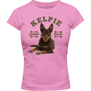 Kelpie Aussie Made - Ladies Slim Fit Tee - Graphic Tees Australia