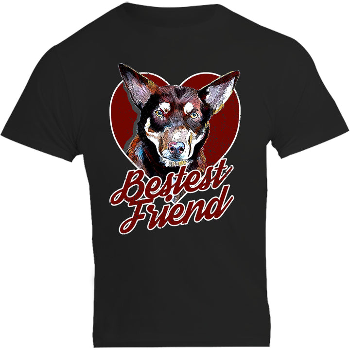 Kelpie Bestest Friend - Unisex Tee - Plus Size - Graphic Tees Australia