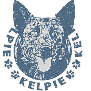 Kelpie Face - Ladies Relaxed Fit Tee - Graphic Tees Australia