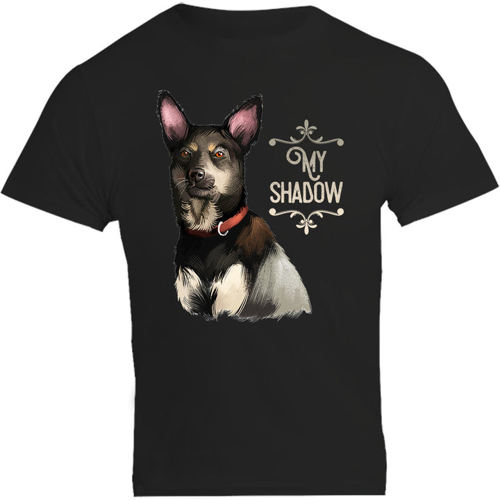 Kelpie My Shadow - Unisex Tee - Plus Size - Graphic Tees Australia