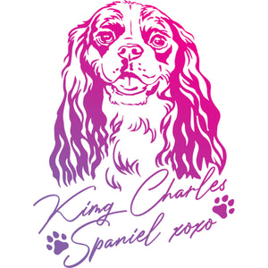 King Charles Spaniel XOXO - Ladies Relaxed Fit Tee - Graphic Tees Australia