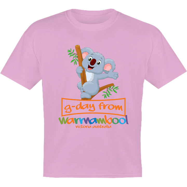 Koala G'day From Warrnambool - Youth & Infant Tee - Graphic Tees Australia