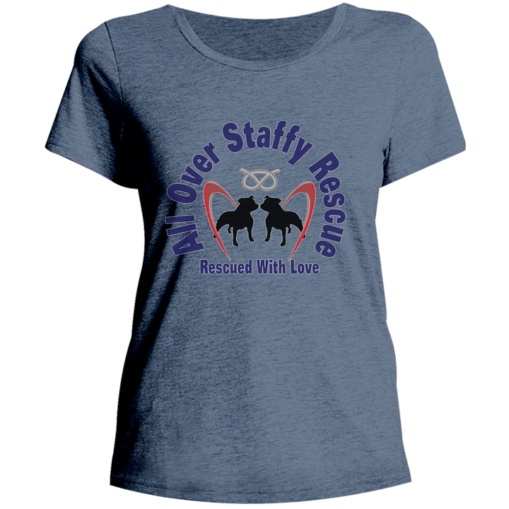 All Over Staffy Rescue - Ladies Relaxed Fit Tee - Graphic Tees Australia