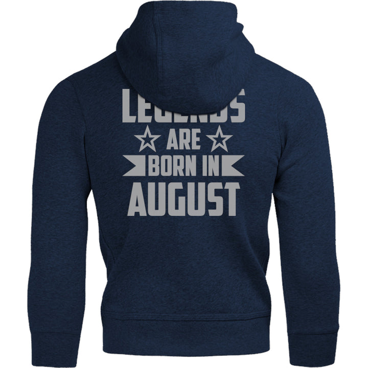 Legends Are Born In August - Adult & Youth Hoodie - Graphic Tees Australia