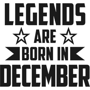 Legends Are Born In December - Unisex Tee - Plus Size - Graphic Tees Australia