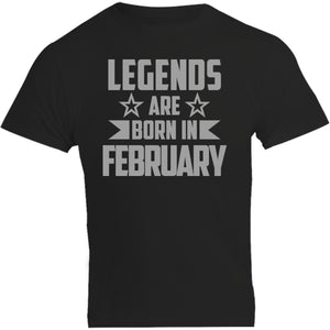 Legends Are Born In February - Unisex Tee - Plus Size - Graphic Tees Australia