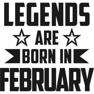 Legends Are Born In February - Unisex Hoodie - Plus Size - Graphic Tees Australia