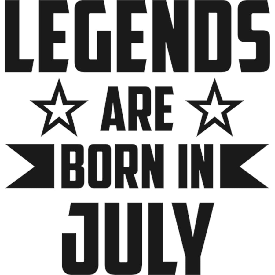 Legends Are Born In July - Adult & Youth Hoodie - Graphic Tees Australia