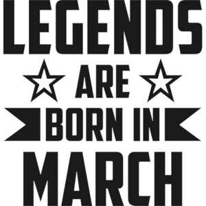 Legends Are Born In March - Adult & Youth Hoodie - Graphic Tees Australia