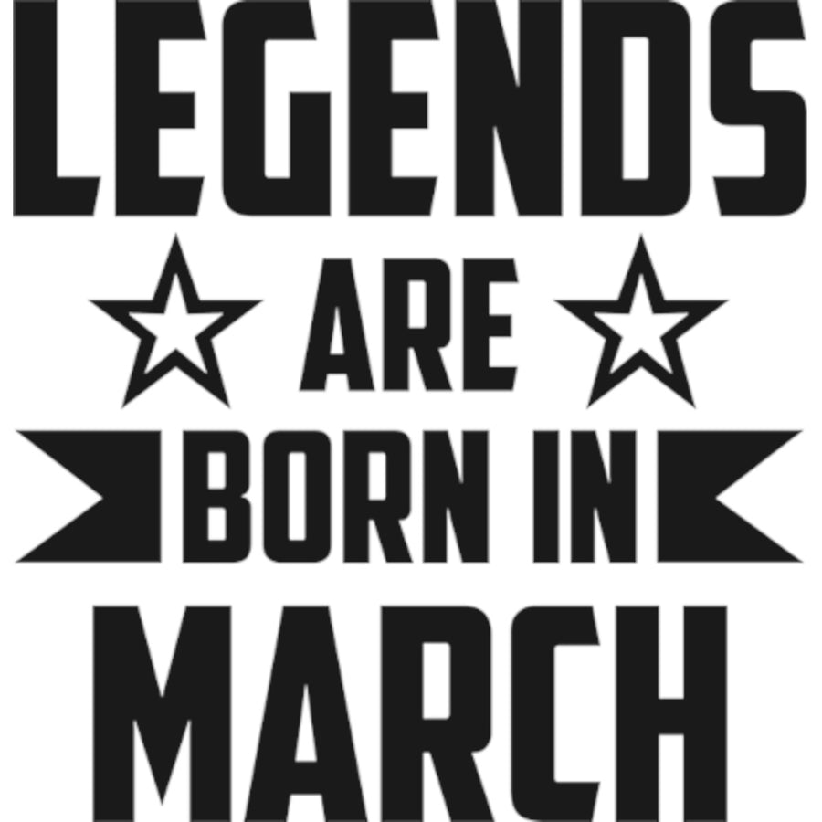 Legends Are Born In March - Ladies Relaxed Fit Tee - Graphic Tees Australia