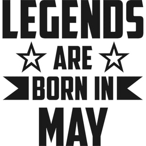 Legends Are Born In May - Ladies Slim Fit Tee - Graphic Tees Australia