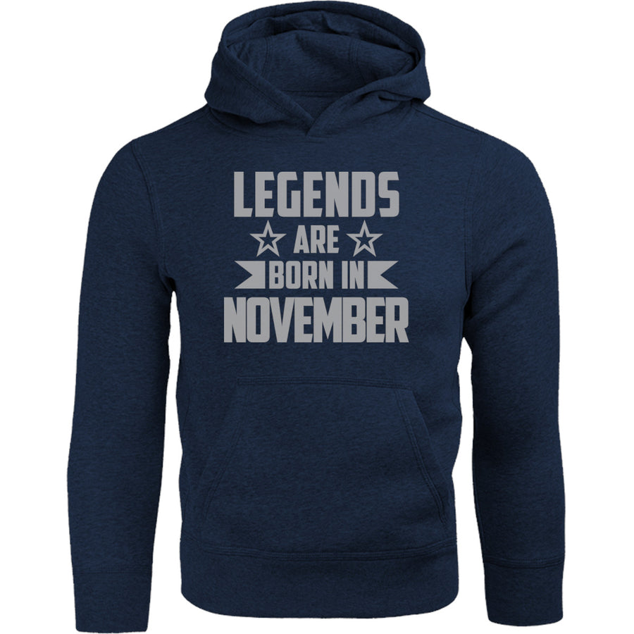 Legends Are Born In November - Adult & Youth Hoodie - Graphic Tees Australia