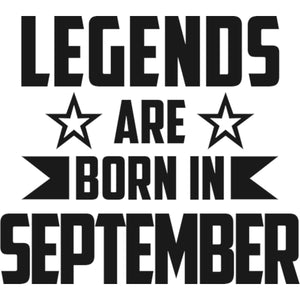 Legends Are Born In September - Unisex Hoodie - Plus Size - Graphic Tees Australia
