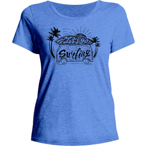 Let's Go Surfing - Ladies Relaxed Fit Tee - Graphic Tees Australia