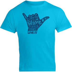 Life Is A Wave - Unisex Tee - Graphic Tees Australia