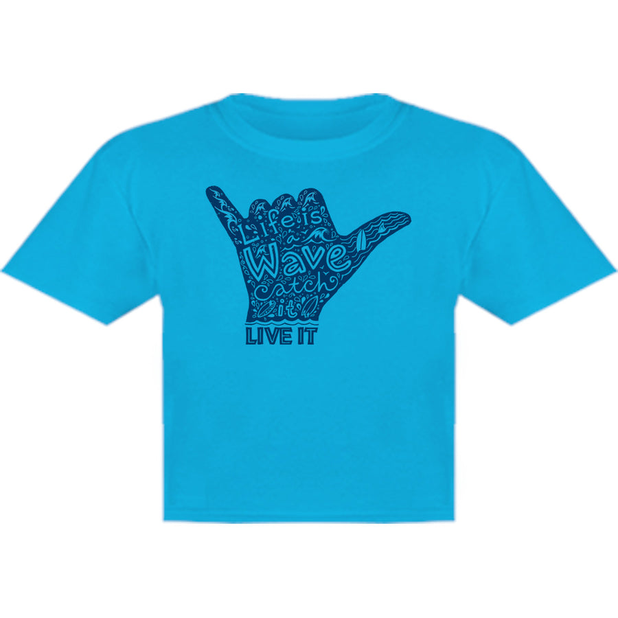 Life Is A Wave - Youth & Infant Tee - Graphic Tees Australia