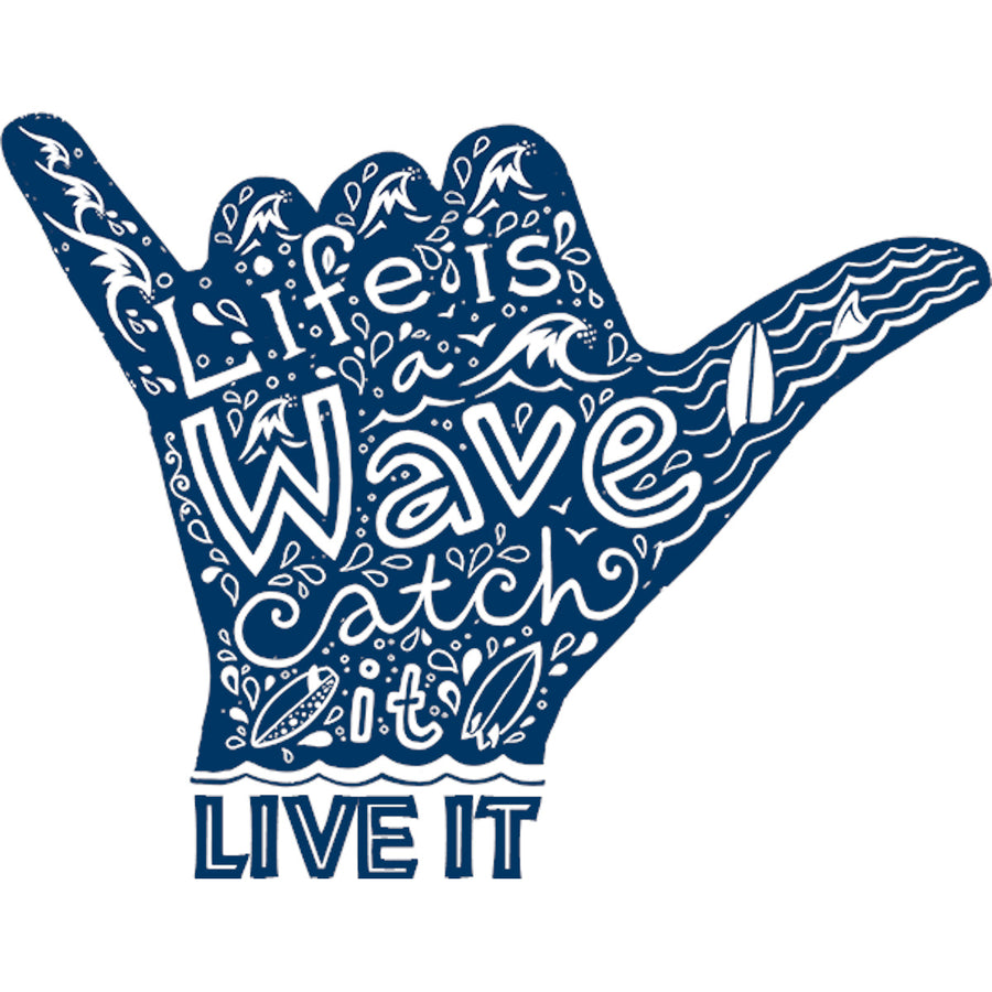 Life Is A Wave - Ladies Relaxed Fit Tee - Graphic Tees Australia