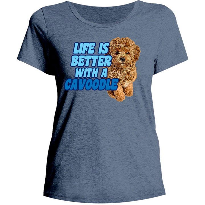 Life Is Better With A Cavoodle - Ladies Relaxed Fit Tee - Graphic Tees Australia