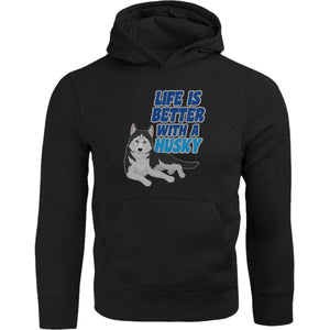 Life Is Better With A Husky - Adult & Youth Hoodie - Graphic Tees Australia