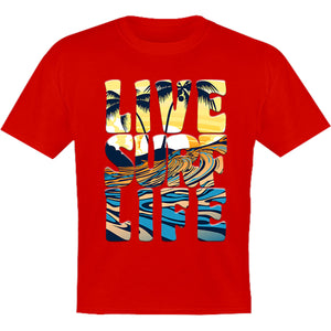 Live Surf Life - Youth & Infant Tee - Graphic Tees Australia