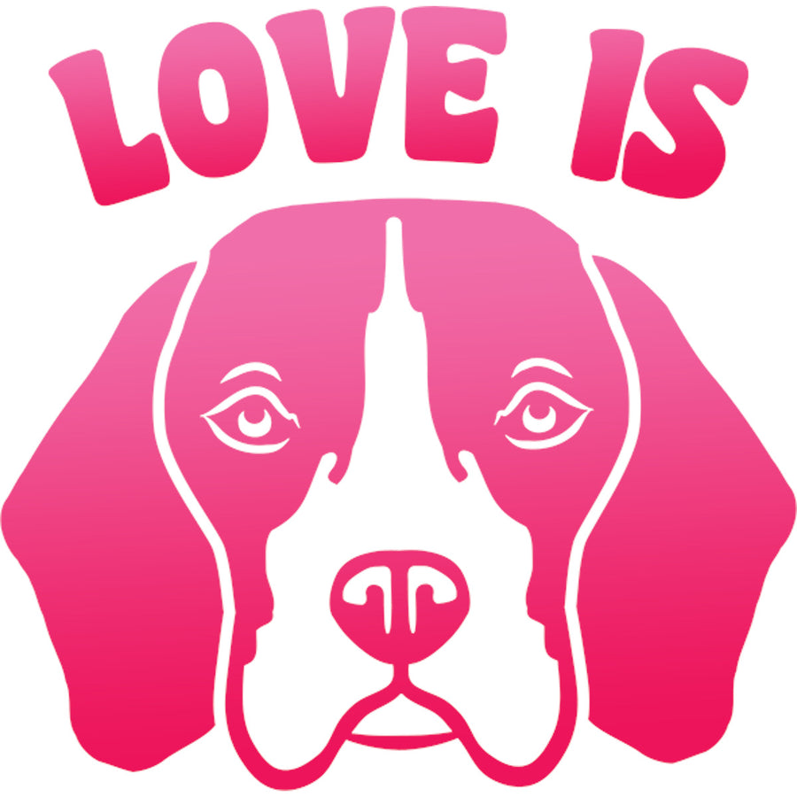 Love Is Beagle - Ladies Relaxed Fit Tee - Graphic Tees Australia