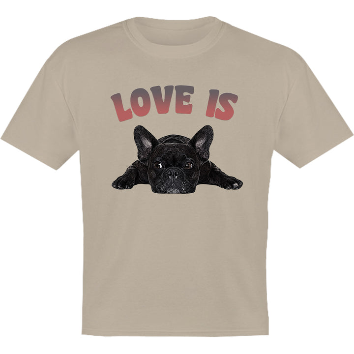 Love Is French Bulldog - Youth & Infant Tee - Graphic Tees Australia