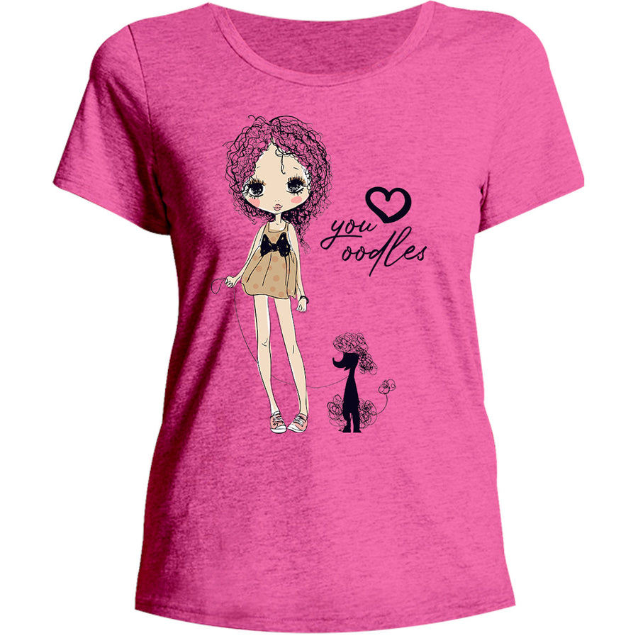 Love You Oodles - Ladies Relaxed Fit Tee - Graphic Tees Australia