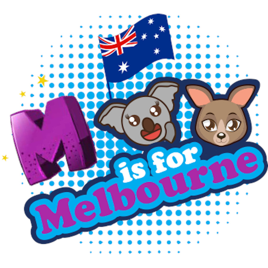 M is for Melbourne - Youth & Infant Tee - Graphic Tees Australia