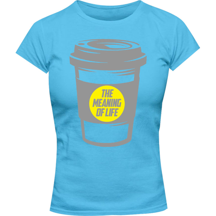 Meaning Of Life - Ladies Slim Fit Tee - Graphic Tees Australia