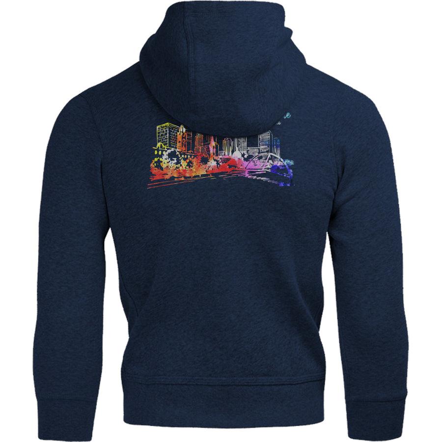 Melbourne Australia Watercolour Sketch - Adult & Youth Hoodie - Graphic Tees Australia
