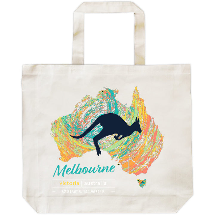 Melbourne Map Roo Swirl - Shopping Bag - Graphic Tees Australia