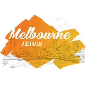 Melbourne Yellow Splash - Ladies Relaxed Fit Tee - Graphic Tees Australia