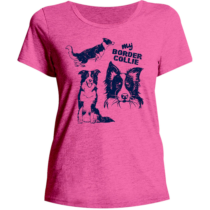 My Border Collie - Ladies Relaxed Fit Tee - Graphic Tees Australia