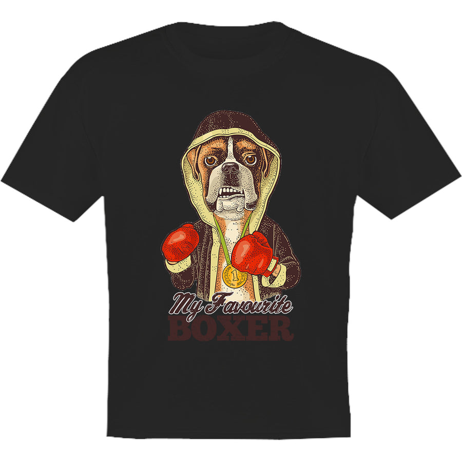 My Favourite Boxer - Youth & Infant Tee - Graphic Tees Australia