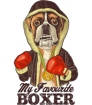 My Favourite Boxer - Adult & Youth Hoodie - Graphic Tees Australia