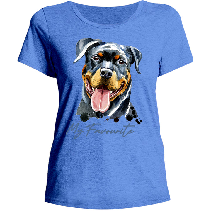 My Favourite Rottweiler - Ladies Relaxed Fit Tee - Graphic Tees Australia