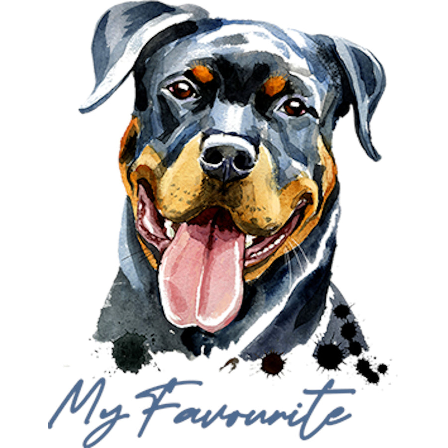 My Favourite Rottweiler - Adult & Youth Hoodie - Graphic Tees Australia