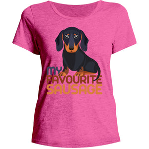 My Favourite Sausage - Ladies Relaxed Fit Tee - Graphic Tees Australia