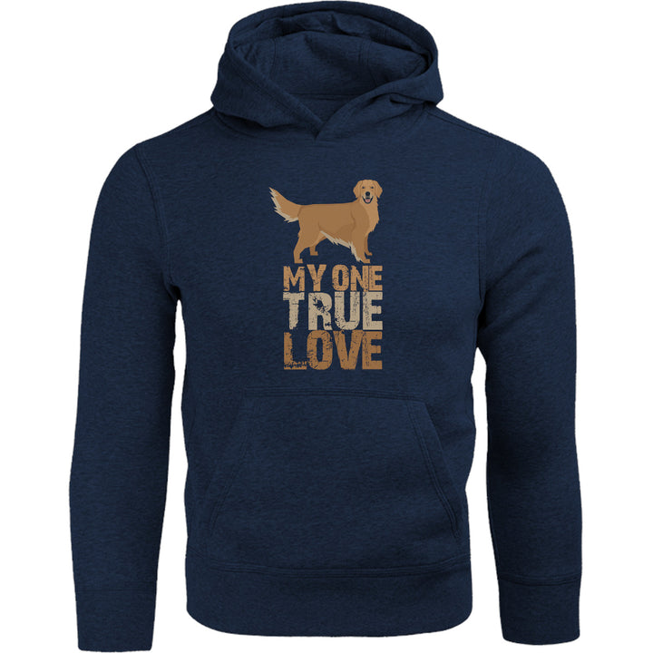 My One True Love Golden Retriever - Adult & Youth Hoodie - Graphic Tees Australia