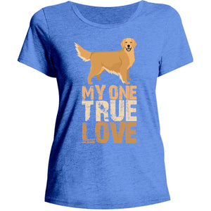 My One True Love Golden Retriever - Ladies Relaxed Fit Tee - Graphic Tees Australia