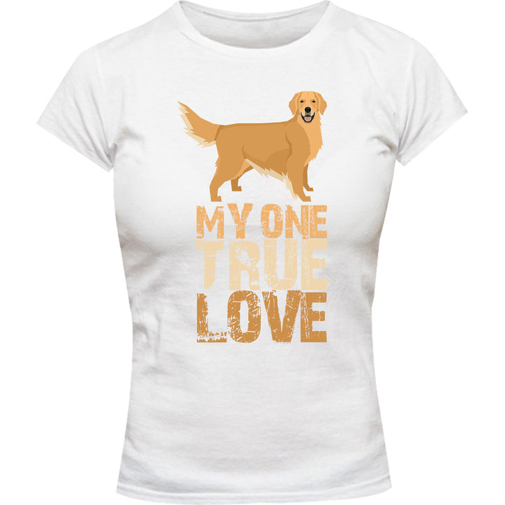 My One True Love Golden Retriever - Ladies Slim Fit Tee - Graphic Tees Australia