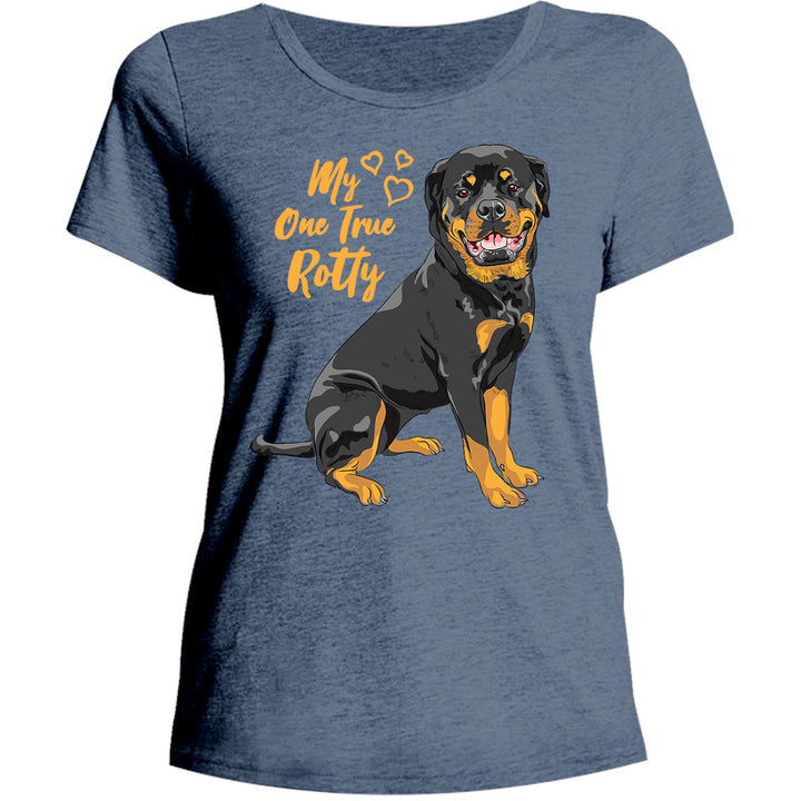 My One True Rotty - Ladies Relaxed Fit Tee - Graphic Tees Australia