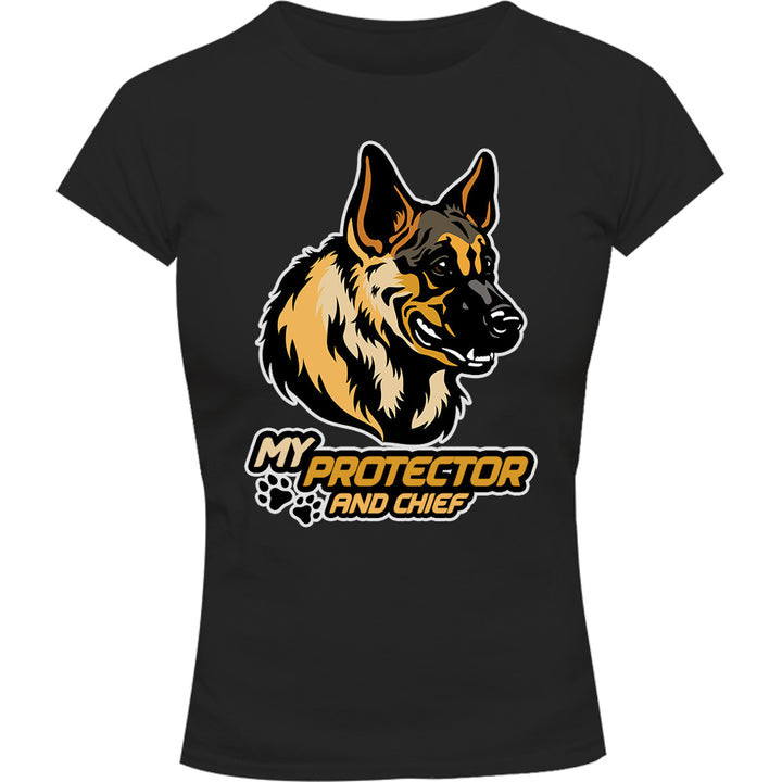 My Protector And Chief - Ladies Slim Fit Tee - Graphic Tees Australia