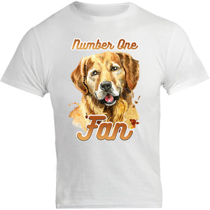 Number One Fan Golden Retriever - Unisex Tee - Graphic Tees Australia