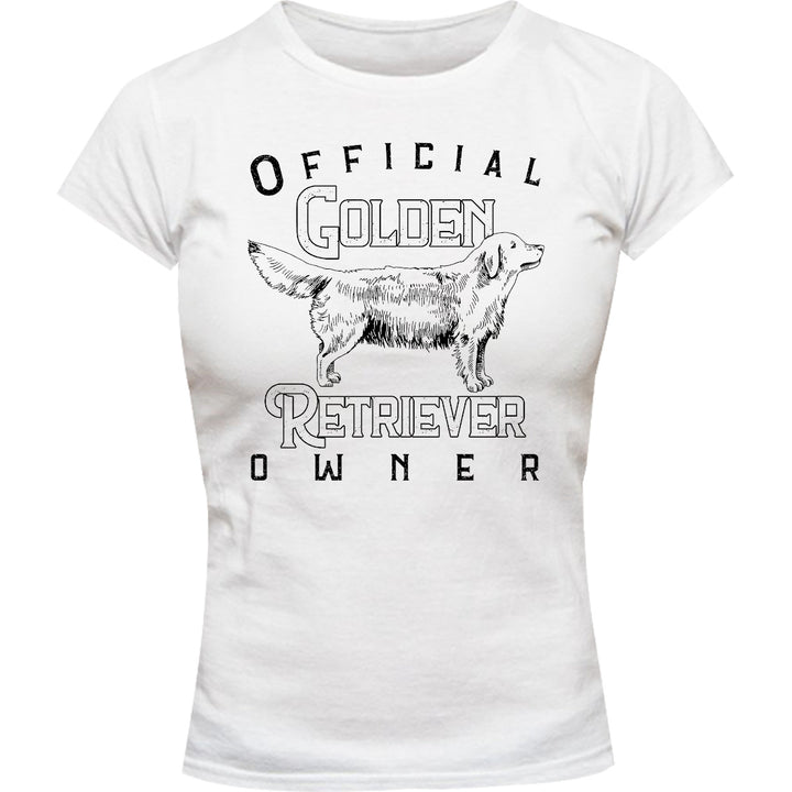 Official Golden Retriever Owner - Ladies Slim Fit Tee - Graphic Tees Australia