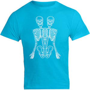 One And A Half Skeletons - Unisex Tee - Graphic Tees Australia