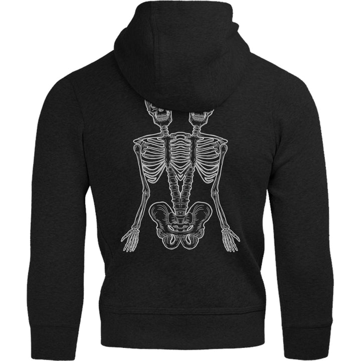 One And A Half Skeletons - Adult & Youth Hoodie - Graphic Tees Australia
