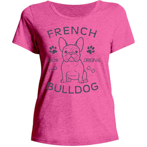Original French Bulldog - Ladies Relaxed Fit Tee - Graphic Tees Australia