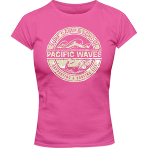 Pacific Waves - Ladies Slim Fit Tee - Graphic Tees Australia