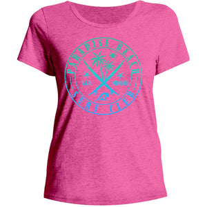 Paradise Beach - Ladies Relaxed Fit Tee - Graphic Tees Australia